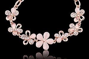 c9fc2b9b02a5d2 七輪の花には「魅力、甘さ、美しさ、幸せ、知恵、優しさ、ラブ」の意味があります。いい祝福を伝えられます。カラーはピンクゴルードです。女性らしく見え、肌馴染みの  ...