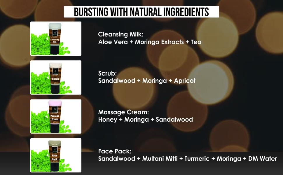 The EnQ Magical Moringa Organic Facial Kit