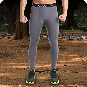 bf8d63cde5 Azani Mens Compression Tights. Sports Baselayer Leggings. Ideal for ...