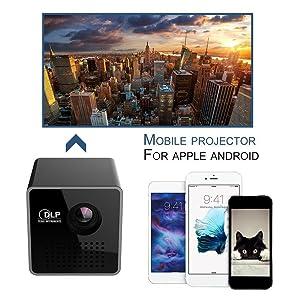 dlp p1 plus wifi portable projector