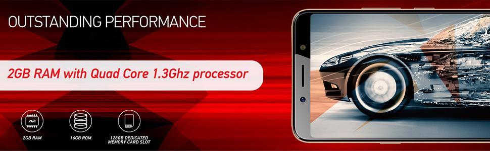 itel A62 Smartphone 16GB 2GB (RAM) (Midnight Black)