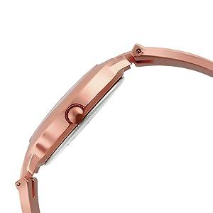 stainless steel women metal watch