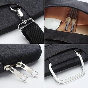 Zip shoulder strap compartment