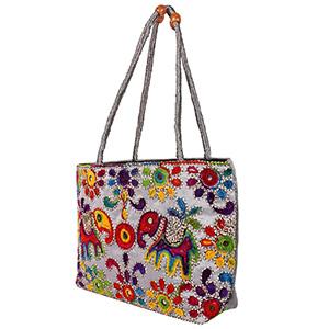 Women Handbags Flower Embroidery Ethnic Shoulder Bags