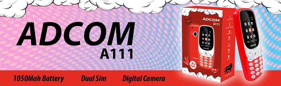 Adcom A111 Voice Changer Mobile Phone (1 8 Inch Display, Dual Sim, Red)