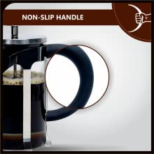 Cafe JEI French Press Coffee Maker or Tea Maker