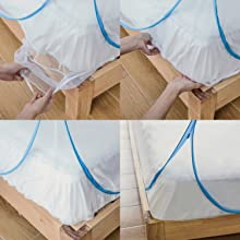 VERDIOZ ROYAL CLASSIC HEALTHGENIE ATHENA MOSQUITO NET FOR DOUBLE BED KING SIZE 7X7 6X6 5X6 6X6.5