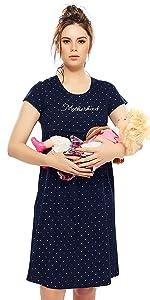 e00a23f8ca18 Zeyo Women s Maternity  Feeding Dress · Zeyo Women s Maternity  Feeding  Nighty ...