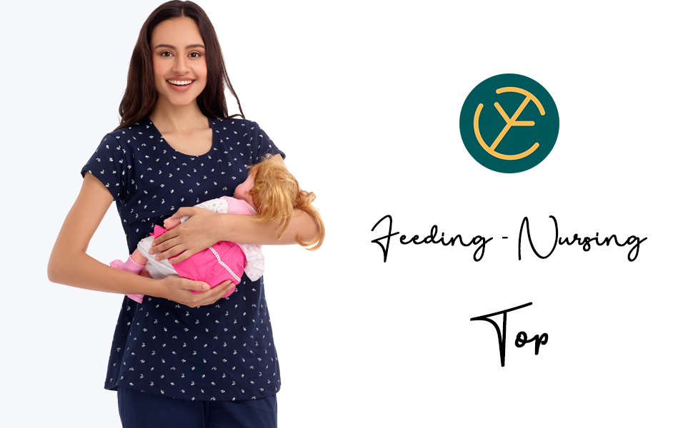 maternity nursing feeding top night suit
