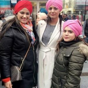women wear turban