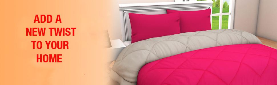 Clasiko Microfibre 250TC Razai (Double_Pink) : Amazon.in: Home & Kitchen