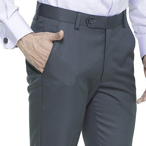 a0b3d2b3d7 ManQ Men's Blended Formal Trousers