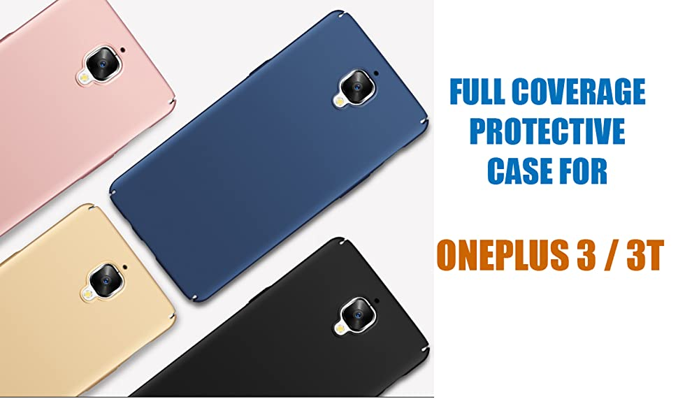 online retailer 106ba aa5ad Kapa Silk Smooth Finish [Full Coverage] All Sides Protection Slim Back Case  Cover for Oneplus 3 / 3T - Black