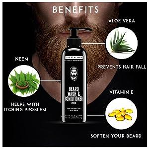 The Real Man, beard care, beard grooming product, beard essential, beard wash, beard oil
