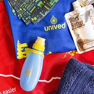 running bottle, water bottle, unived, energy gel flask