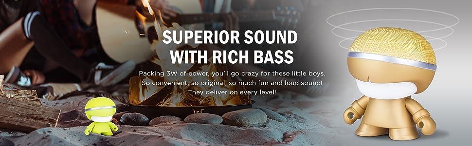 bluetooth speakers,speakers,wireless toy speakers,led speakers,adl,adlmusic,xoopar,xoopar boy mini