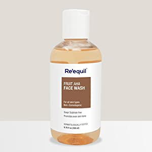 Skin Brightening AHA Face Wash For Hyperpigmentation removal_Reequil