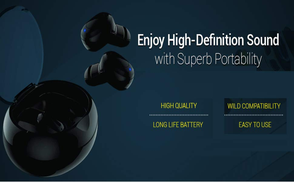 Wireless bluetooth ear phone high sound quality headphone