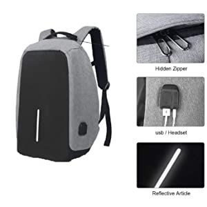 laptop bag with usb cable