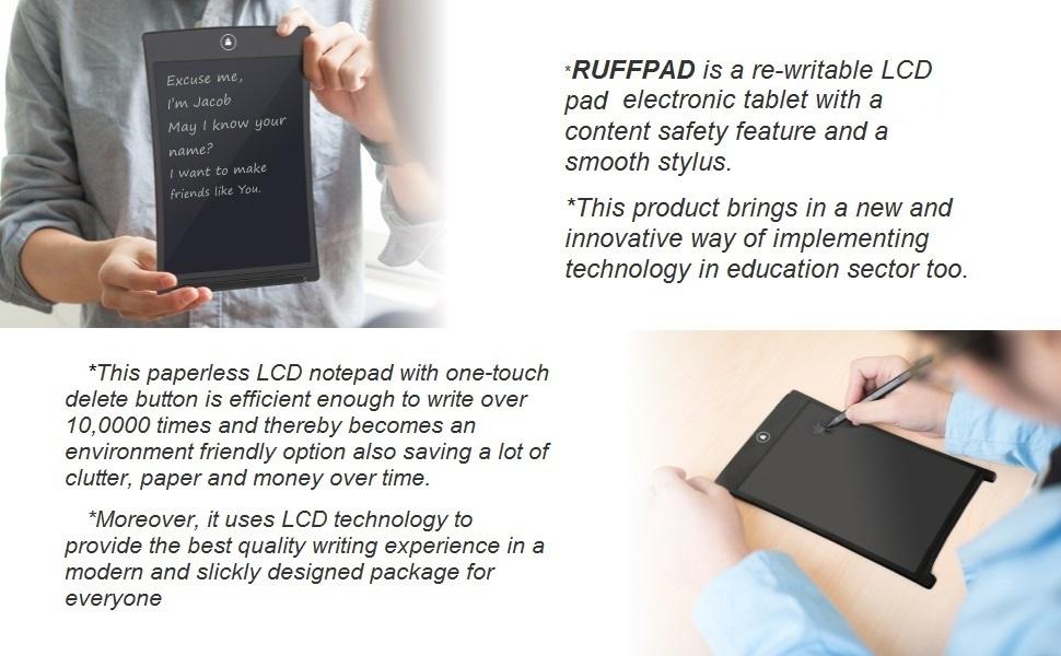 writing pad notebook notepad paper memo tablet digital Write RuffPad EWrite Writing Draw Handwriting