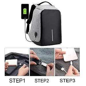 Anti Theft Travel Waterproof Backpack, Compact Laptop Bag, Office Men Women Laptop usb charging