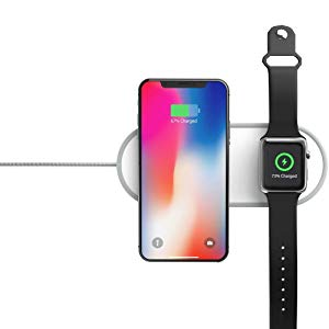 dual charger pad iphone i watch charger
