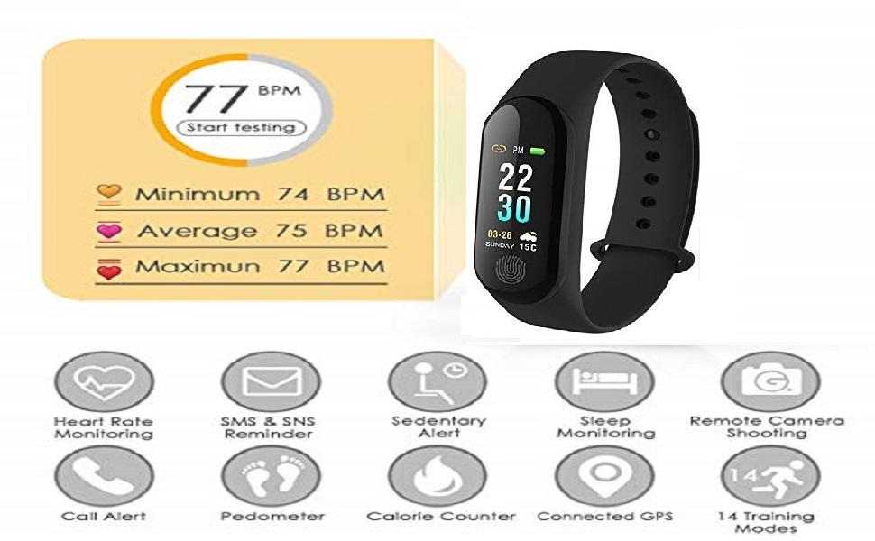 m3 band heart beat moniter fitness band band Fitness Tracker  Heart Rate Monitor M3 Smart Band