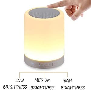 Portable Night Bluetooth Wireless Smart Touch Sensor Rgb Color Changing speaker light