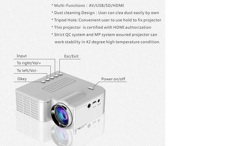 uc28 projector big size projector smart tv