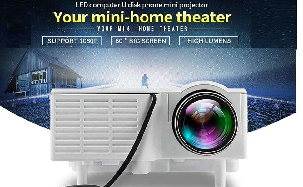 UC28 projector mini projector screen 6 ft x 4 ft