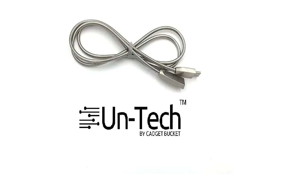 spring steel micro usb cable