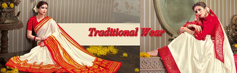 bengali saree for durga pooja red and white silk sarees for women