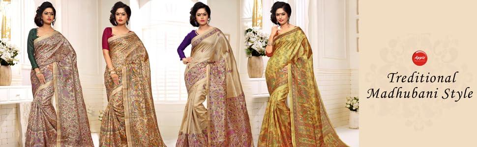 party wear saree new design 2019 wedding sarees for women latest design party madhubani print saree
