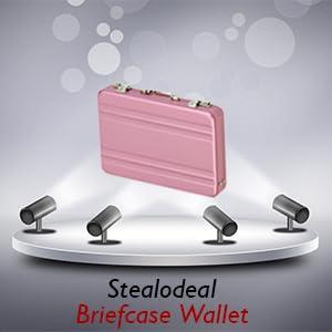 Pink Briefcase Cardholder