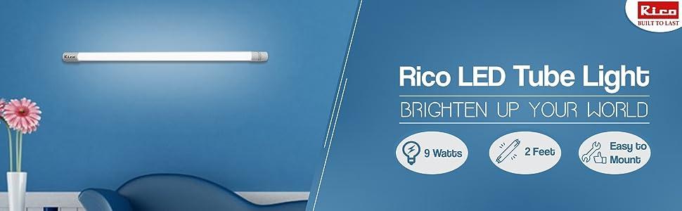 Rico LED Tube Light Model Lt1520-9 Watts- 2 Feet