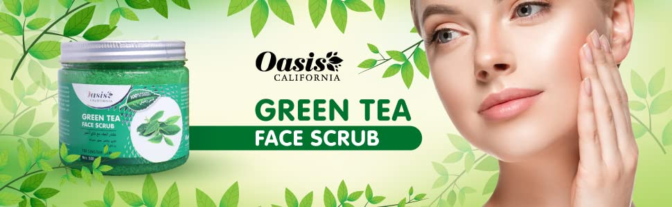 oasis green tea face scrub