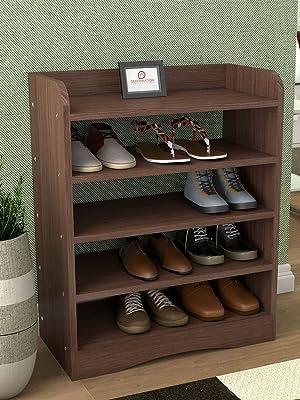 shoe rack walnut