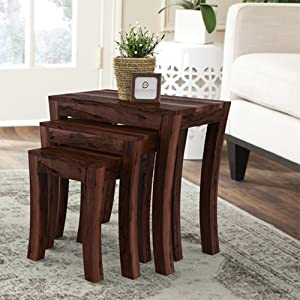 Decorating with Nesting Tables | Sheesham Wood Nesting Tables