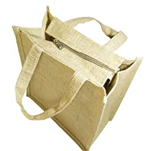 jute bag with zipper