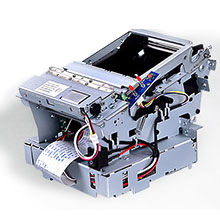 Metallic barcode printer enclosure