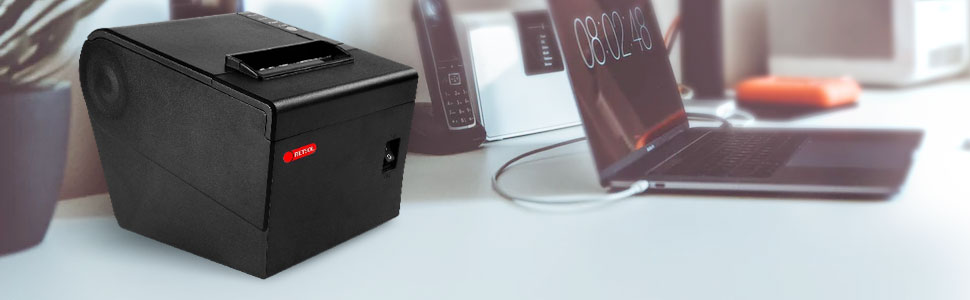 "RETSOL TP806 3"" Thermal POS Printer, Barcode Printer, Gift Card Printer"