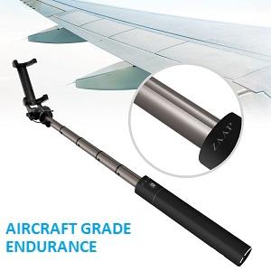 61804ba779cbec PREMIUM ALUMINIUM DESIGN : NUSTAR 4 is most advanced selfie stick among  ZAAP Selfie range. Super Extendable Light Weight Aluminium design.