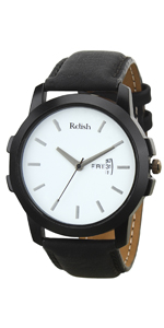 Relish Black Day and Date Wrist Watch for Boys and Mens