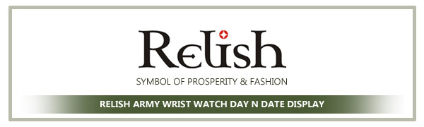 Relish Army Wrist Watch for Mens and Boys
