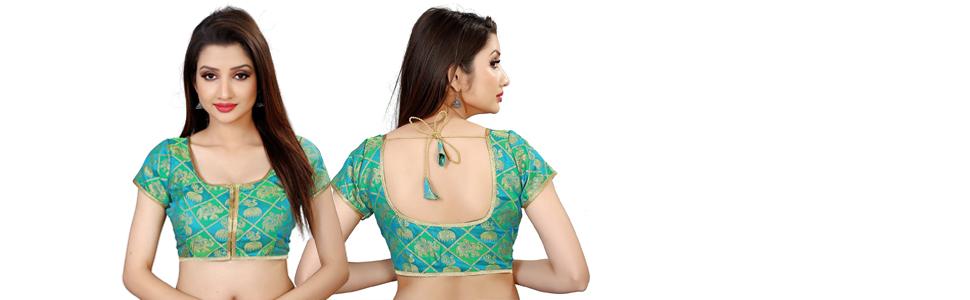 Partywear Green Blouse for Women's