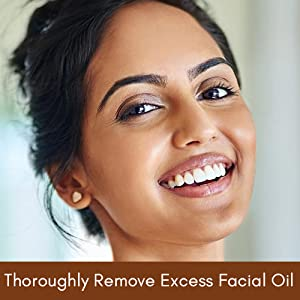 Thoroughly Remove Excess Facial Oil