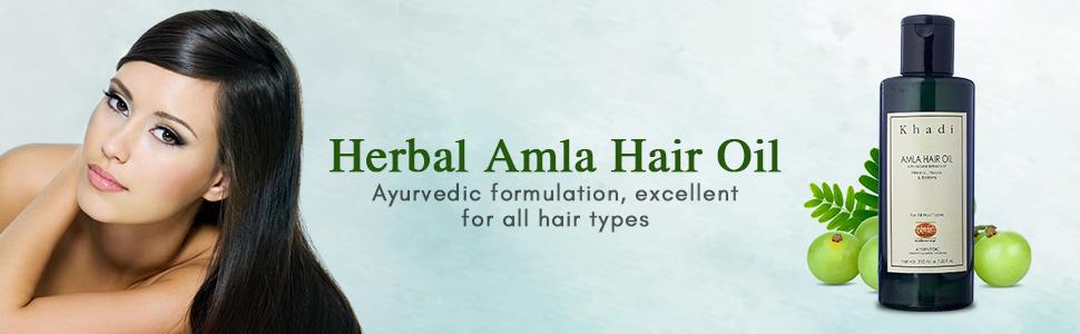 KhadiMauri Herbal Amla Hair Oil, 210ml
