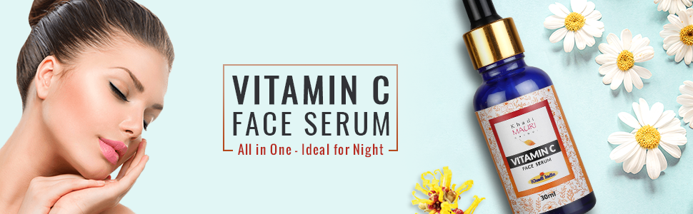 Khadi Mauri Herbal Vitamin C Face Serum with Hyaluronic Acid