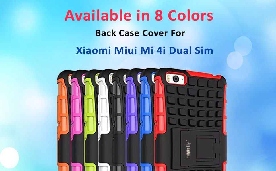 Heartly Flip Kick Stand Spider Hard Dual Rugged Armor Hybrid Bumper Back  Case Cover For Xiaomi Miui Mi 4i Dual Sim - Best White