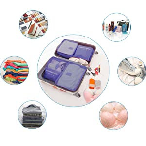 packing cubes/travel pouch/travel organizer